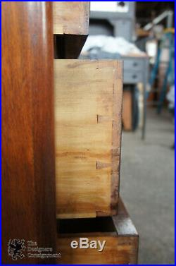1870s Antique Victorian Walnut Dresser Hand Carved Handles 3 Drawer Chest 40