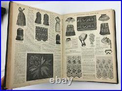 1884 La Mode Illustree Hand Coloured Fashion Plates Folio with 48 Large Plates