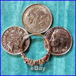 18 ct GOLD second hand antique victorian diamond & sapphire ring