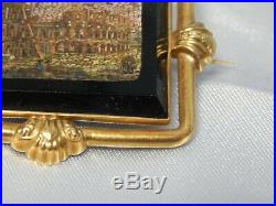 18k Gold ANTIQUE VICTORIAN HAND CRAFTED COLOSSEUM ROME MICRO MOSAIC BROOCH
