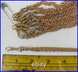 5pc LOT Repro victorian hand fist figa necklace gold bronze lanyard chatelaine