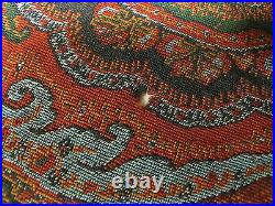 70X70 1800s Antique Hand Made Paisley Wool Piano Shawl Victorian Scarf Stunning