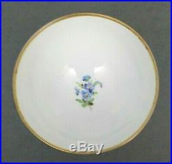 Ambrosius Lamm Dresden Chalice Cup Hand Painted Flowers Porcelain Antique