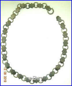 Antique 1820's Georgian EARLY Victorian 800 Silver Book Chain Necklace Hand Made