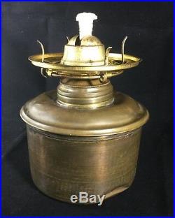 Antique 1890's Victorian Hand Painted Floral Oil Parlor Banquet GWTW Lamp