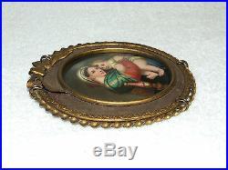 Antique 19th Century Victorian Madonna Child KPM Hand Painted Framed Porcelain