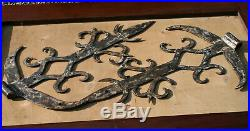 Antique Architectural Salvage Hand Forged Pair of Hinges Door Gate Castle Size