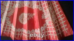 Antique BUTTERFLY MOTIF Handmade Lace Mother-of-Pearl Sticks Hand Fan