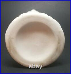 Antique Bennington Pottery Parian Ware Victorian Hand Vase 8-1/4 CATTAILS TULIP