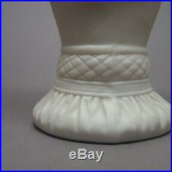 Antique Bennington Pottery Parian Ware Victorian Hand Vase 8-1/4 Cornucopia