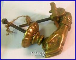 Antique Brass Bronze Woman's HAND DOOR KNOCKER Victorian