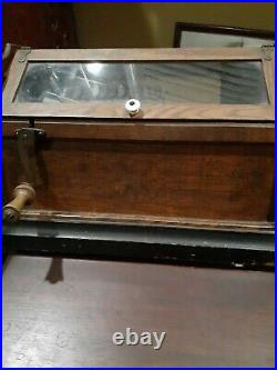 Antique CONCERT ROLLER ORGAN 1901 Hand Crank Victorian Music Box + 12 Song Cobs