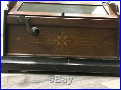 Antique CONCERT ROLLER ORGAN 1901 Hand Crank Victorian Music Box + 5 Song Cobs
