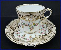 Antique Copeland Tea Cup & Saucer, Hand Painted