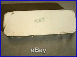Antique Early Spode New Fayence Hand Painted Transfer Toothbrush Box & Cover