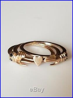 Antique Fede Gimmel hands over heart ring 14K RING SIZE 7.5