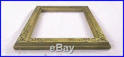 Antique Fits 8.25 X 10.25 19c Gold Gilt Eastlake Hand Carved Picture Frame
