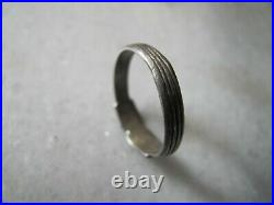 Antique Georgian\ Victorian Silver Clasped Hands Ring