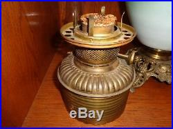 Antique Gone With The Wind Fluid Oil Lamp, Hand Painted In Original Condition