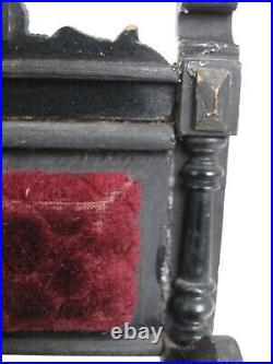 Antique Hand Made Miniature Victorian Arm Chair One of a Kind