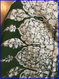 Antique Kashmir Victorian Style Hand Embroidery Cape Shawl On Pashmina