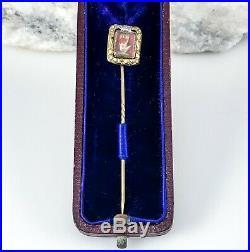 Antique Odd Fellows Heart in Hand Stick Pin Georgian Victorian Fraternal Masonic