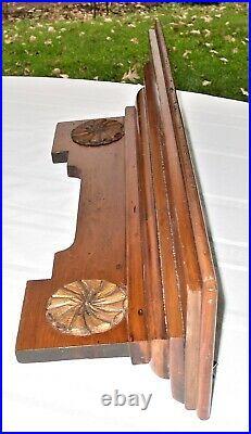 Antique Original Hand Made 1880's Victorian Hanging Wall or Clock Shelf Eastlake