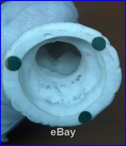 Antique Parian Ware Porcelain Figurine Victorian Hand Spill Vase 8 Cornucopia