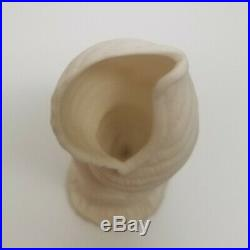 Antique Pottery Parian Ware Victorian Right Child's Hand Vase 5.25 SEA SHELL