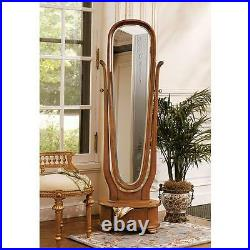 Antique Replica Victorian Style Hand Carved Mahagony 72 Dress Mirror