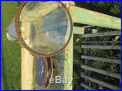 Antique Round Hand Blown Glass Dome Globe Steampunk Taxidermy Clock 19.25