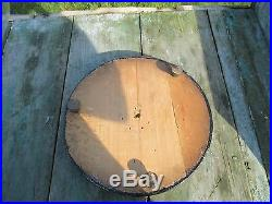 Antique Round Hand Blown Glass Globe Dome Taxidermy Steampunk Clock 19.21