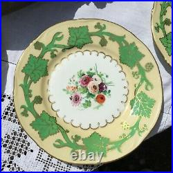 Antique Samuel Alcock dessert service. Superbly hand painted c. 1855