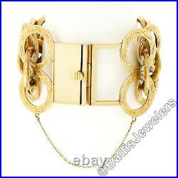 Antique Victorian 14K Gold LARGE Black Onyx Cameo & Pearl Hand Engraved Bracelet