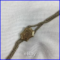 Antique Victorian 14K Gold Pocket Watch Chain Fob With Monkey Paw Hand 40 27g