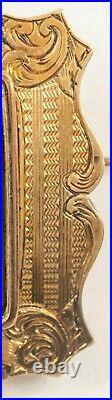 Antique Victorian 14k Gold Hand Painted Enamel Cherub Small Brooch