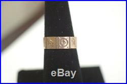 Antique Victorian 9K ROSE GOLD Hand Scrolled Band Size 7