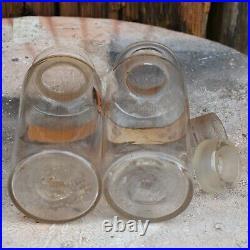 Antique Victorian Apothecary Bottles Chemist Jars Hand Blown Pontil Scar Two D