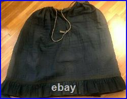 Antique Victorian Black Hand Quilted Cotton Petticoat Skirt