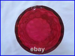 Antique Victorian Cranberry Glass Hand Painted Pickle Castor withSP Stand & Tongs