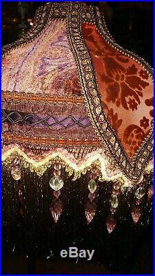 Antique Victorian Floor Lamp Bridge Lamp Hand Made Victorian Shade
