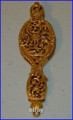 Antique Victorian Folding Lorgnette Opera Glasses 18k Gold Hand Engraved Lovely