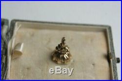 Antique Victorian Gold Citrine Heraldic Intaglio Crest Seal Fob Dagger In Hand