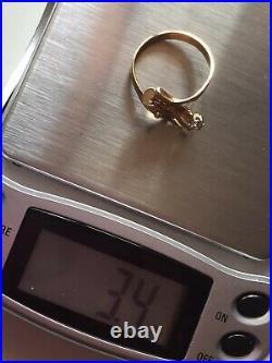 Antique Victorian Gold Ring Diamond Hand Anello Oro Antico Diamante Mano