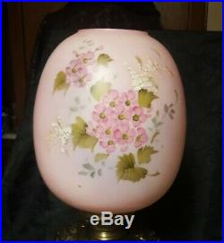 Antique Victorian Hand Painted Floral Electrified Oil Parlor Banquet GWTW Lamp