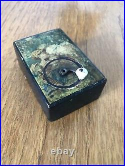 Antique Victorian Hand Wind Manivelle Music Box Cupid Design Very Sweet