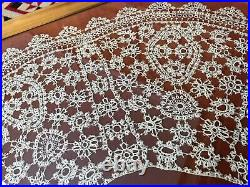 Antique Victorian Handmade Hand Made Large Collar Cape Tatting Tatted Lace