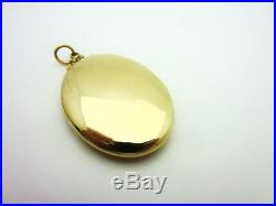 Antique Victorian Large Oval Left Handed Locket 14k Yellow Gold Rococo Details