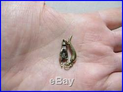 Antique Victorian Lucky charms 9-10k gold Cornicello Horn & Horned Hand Lot of 2