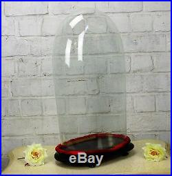 Antique Victorian Oval Hand Blown Glass Globe Dome Doll Clock 19.29 H 10.03W